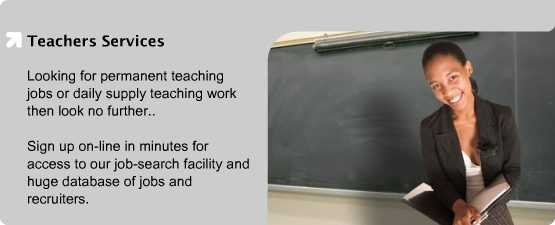 Looking for permanent teaching jobs or daily supply teaching work then look no further..